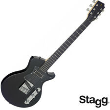 NEW Stagg SILVERAY SERIES Custom Flat Top Electric Guitar SVY-CST-BK - Black