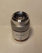 Leitz PL 2.5X Plan  Microscope Objective 160/- Lens  Macro Photography 160mm