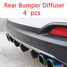 4Pcs Rear Bumper Lower Diffuser Lip PVC material Shark Fin Spoiler For All Car