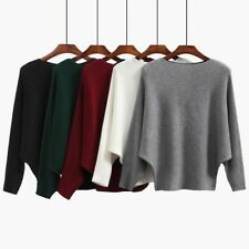 Women's Batwing Sleeve Pullover Top Cashmere Sweaters - NWT - One Size