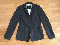 J Crew Regent gray color 1 button Blazer Jacket  Work Career sz 2 Wool