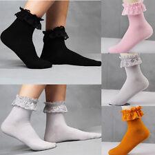 Sweet Lace Socks Women Princess Vintage Cute Girl Ruffle Frilly Ankle Sock Hot