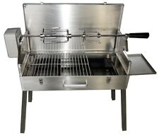 SunshineBBQs Portable Stainless Steel Charcoal BBQ with Rotisserie Spit