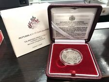 coffret San Marino 5 euro 2005 jeux olympiques d'hivers Turin BE argent