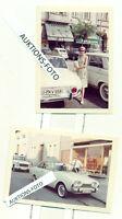 2 FOTOS OLDTIMER 1960 - 1964 FORD TAUNUS 17m P3 BADEWANNE HANNOVER USINGEN ORIG.