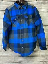 Legendary Whitetails Men's Medium Insulated Flannel Shirt Jacket Blue Gray