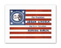 PRESIDENT ELECTION CAMPAIGN ABRAHAM LINCOLN REPUBLICAN Poster Canvas art Prints