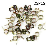 25Pcs 1/4 Inch Gas Fuel Line Clamps Kit For 1/2 Hose Spring Action Lawnmower