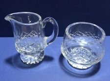 WATERFORD CRYSTAL FOOTED CREAMER & OPEN SUGAR SET * LISMORE * PATTERN