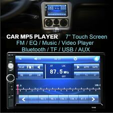 Auto 2 DIN 7'' Bluetooth Touch Screen Stereo Radio FM MP5 MP3 USB AUX TF Player