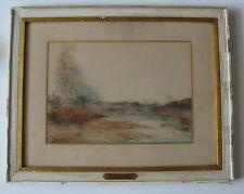 Paysage lacustre signé Jacquet 1898