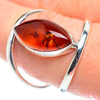 Large Baltic Amber 925 Sterling Silver Ring Size 9 Ana Co Jewelry R52172F
