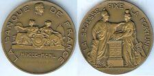 Médaille de table - Banque de France 1800/1950 PUYEO-PONS d=68mm DUMAREST sculpt