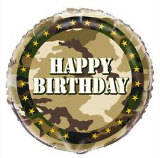 "18"" Army Military Foil Helium Balloon Party Decoration Boys Happy Birthday Camo"