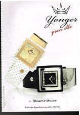 Publicité Advertising 2010 Les Montres Younger & Bresson