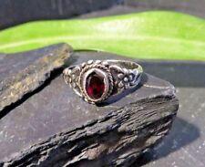 800 HP Silber Ring Granat Dunkel Rot Hans Przyrembel Nähe Moholy-Nagy Jugendstil