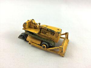 Vintage Matchbox Lesney Caterpillar Bulldozer #18 Broken Tread - USED, Free Ship