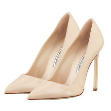 Manolo Blahnik BB 115 Nude Patent Leather