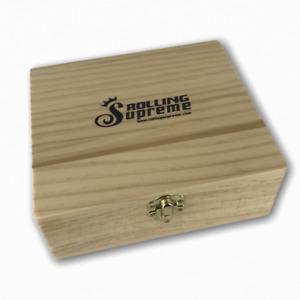 Rolling Supreme Wooden Stash Box King Size Large Magnetic Smokers Stash Box