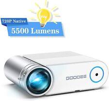 Tragbar Mini Projektor HD 5500 Lumen HEIMKINO CINEMA VIDEO PROJEKTOR HDMI