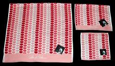 3 Marilyn Monroe SCULPTED LIPS Red Coral Peach Bath/Hand/Wash Cloth Towels NWT