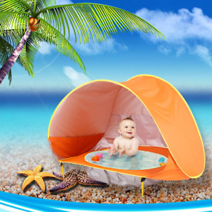Baby Beach Tent Waterproof  Sun Shelter Pop Up Sun Awning  UV-protecting Pool