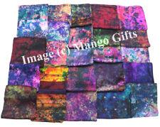 Indian Silk Sari Tie Dye Scarf Wrap Dupatta Women Fashion Scarves Wholesale 50Pc