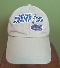 NCAA Florida Gators Football Champions 2006 Mens Khaki Adjustable Cap Hat b91fff61e064
