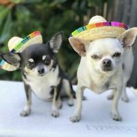 Pet Dog Sombrero Hat Sun Hat Party Hats Dogs and Cats Sup Dog Costume Funny N9C1