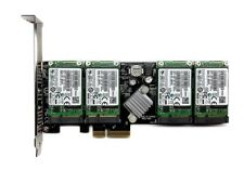 NEW 2tb RAID 4x SAMSUNG EVO 860 500gb mSATA + m.2 PCIe SSD DUAL SLOT ADATTATORE NUOVO