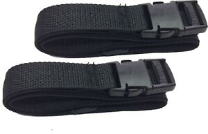"Lash Strap (2 straps) Cargo Lash Strap Black 48 inches Long with 1.25"" SR Buckle"