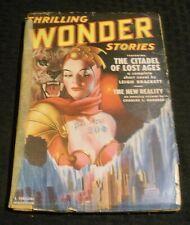 1950 Dec THRILLING WONDER STORIES Pulp Magazine v.37 #2 GD- 1.8 Leigh Brackett
