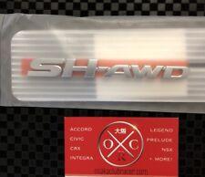09-12 Acura TL SH-AWD Emblem Badge OEM 07-12 RDX 07-13 MDX 05-12 RL 10-13 ZDX