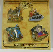 Disney Walts Classic Collection Sword in the Stone Merlin Wart Mim 4 LE Pin Set