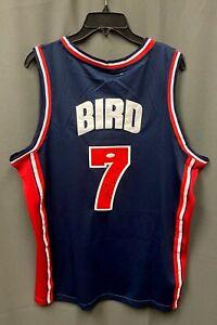 Larry Bird #7 Signed USA Olympic Jersey Mitchell & Ness Sz L JSA WITNESSED COA