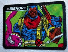 """Marvel Super Heroes """"Bishop"""" Foil Vending Machines Sticker Vintage 1990'S Nice"""