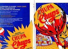POSTER PUBLICITAIRE/PUB COLLECTEUR VIGNETTES CHUPA CHUPS SCIENCE-FICTION 1979