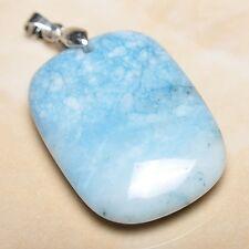 blu caraibi Larimar Diaspro Argento Sterling 925 gancetto 4.4cm CIONDOLO P10076