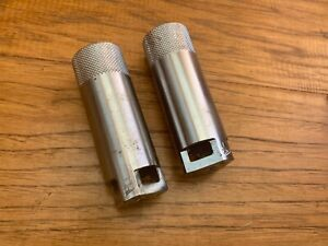 GT FREESTYLE AXLE PEGS *Old School BMX* Silver PAIR GENUINE VINTAGE *See Images*