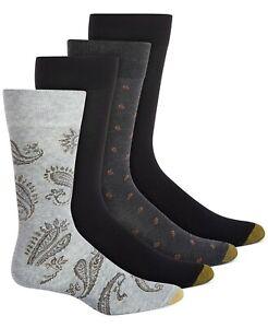 Gold Toe Men's 4 Pk. Socks Paisley Shoe Size 6-12