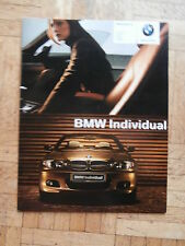 BMW 3er Coupé Cabrio Touring Limousine Compact E46 Individual 9/2003 Brochure