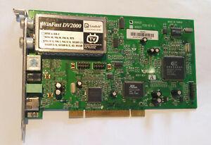 UNTESTED LEADTEK WINFAST DV2000 PCI TV Tuner Card  PAL p/n W1200769