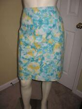Talbots Petites Women's Multi-Color Print Pencil Skirt Size 14 P.