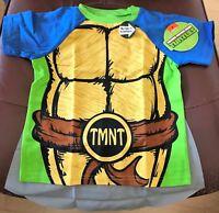 Nickelodeon Teenage Mutant Ninja Turtles Cape T-shirt Size 4T w/ Tracking
