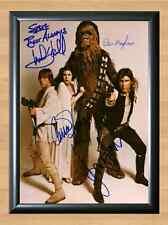 Star Wars Han Solo Luke Skywalker Cast Signed Autographed A4 Photo Print Poster