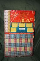 "Rare Large 16"" 5-Cent ""Five Grand Prizes"" 2000 Hole Punch Board Serial #1967"