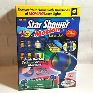 Star Shower Motion Laser Light Christmas Holiday BulbHead 2015