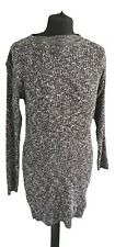 GREY HIGH NECK JERSEY JUMPER DRESS - UK Size 14