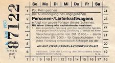 ANTIGUO BILLETE para abgegebenes personas lieferkraftwagen (agk1712)