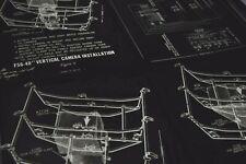 Original WWII US Military Aviation Aerial Surveillance Spy Plane Camera Diagrams